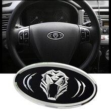 Tiger head Steering Wheel Badge 6.2X3.2cm for KIA RIO SPORTAGE 2013 2014 CEED CERATO SORENTO SOUL K5 K2 K3 K7 modern IX35