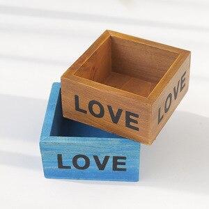 Image 3 - Maceta para planta de jardín, maceta decorativa Vintage, suculenta, cajas de madera, cajones, mesa rectangular, maceta para flores, dispositivo de jardinería