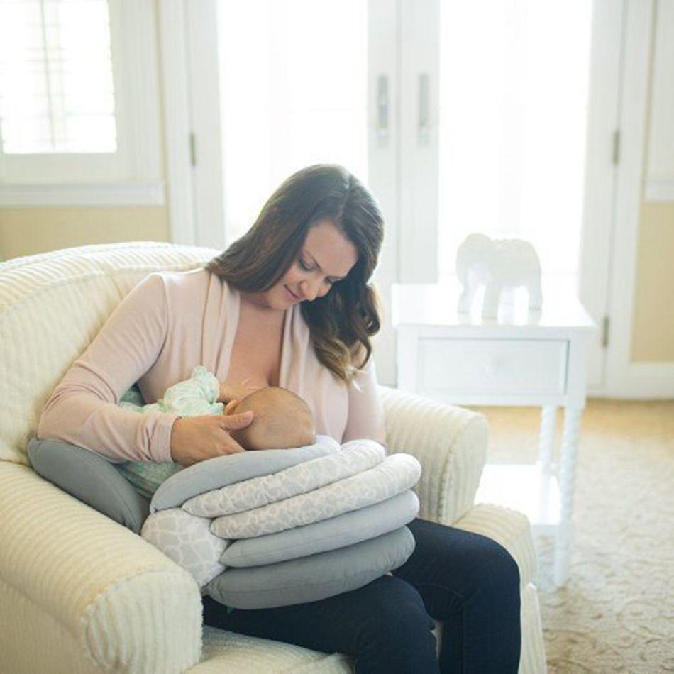 Baby Kissen Multifunktions Pflege Stillen Layered Waschbar Abdeckung Einstellbare Kissen Säuglingsernährung Kissen