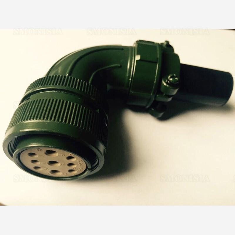 1pcs-20pcs Servo Motor Aviation Connector For YASKAWA/Panasonic 5015 Series Elbow Jack MS3108B24-11S 9Pins dvopm20036 for panasonic servo motor