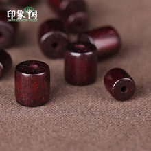 Buddhist Wood Loose Beads 6X6mm/8x8mm  Natural Red Sandalwood Prayer Mala Cylinder Barrel Bead Smooth Spacer 200