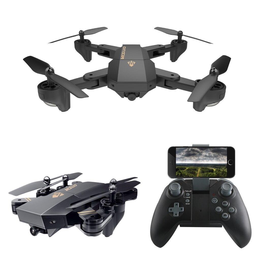 VISUO XS809HW XS809W Mini Drone with Camera WiFi FPV Dron Foldable Quadcopter Altitude Hold RC Helicopter Drones With Camera HD rc drone foldable aircraft helicopter fpv wifi rc quadcopter 2 4ghz remote control dron with hd camera vs visuo xs809w xs809hw