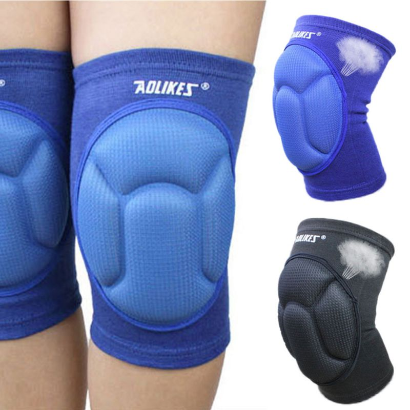 1 pair AOLIKES Basketball Skating Shockproof Sponge Pad Knee Support Brace ...
