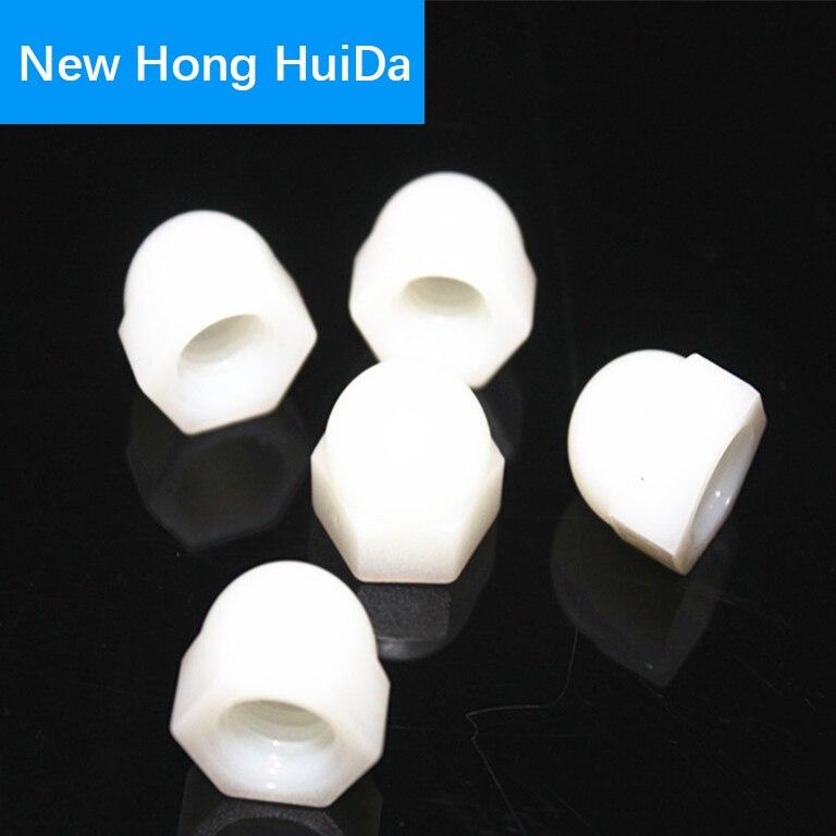 White Nylon Acorn Decorative Cap Nut Threaded Plastic Metric Nuts M3 M4 M5 M6 M8 M10 M12 in Nuts from Home Improvement