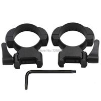 QD Lever Lock 30mm Scope Mount Steel High Profile Weaver Picatinny Rail Quick Release Scope Ring