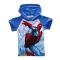 JW-028 Retail new arrive high quality 2017 boys t-shirt kids baby tops spiderman summer cartoon children clothing free shipping