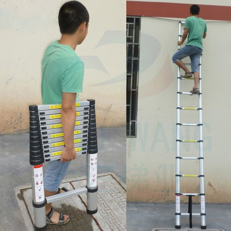 Aliexpress.com : Buy 3.8m Thickening Alloy Aluminum Gates U0026 Doorways  Herringbone Portable Retractable Ladder Multifunctional Folding Ladder Stair  From ...