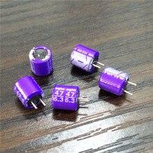 10 Uds 47uF 6,3 V SANYO os con SA Series 6x6,5mm Low ESR 6.3V47uF condensador sólido de grado superior