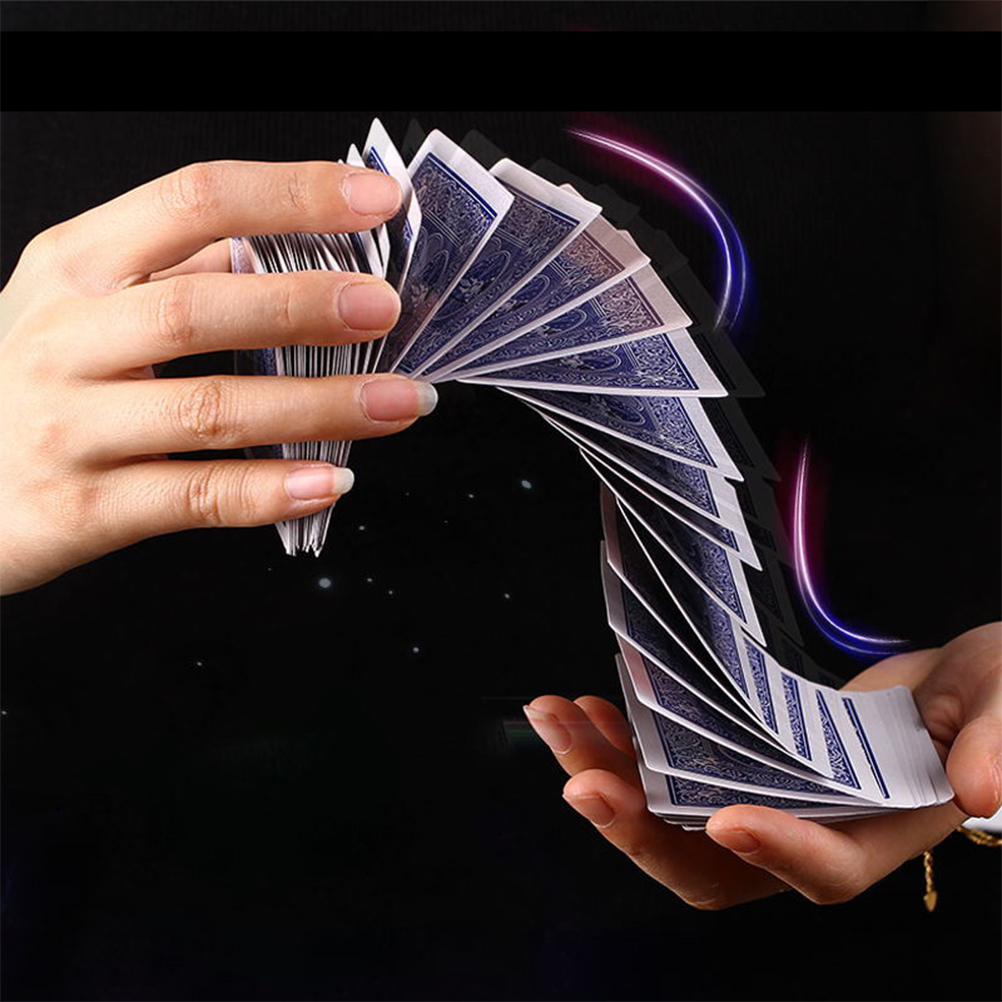 Electric-Deck Trick-Prop Gag-Poker Cards-Prank Acrobatics-Waterfall Connection-By-Invisible-Thread