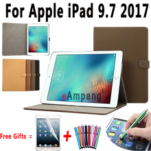 Hight Quality Retro Matte PU Leather Smart Cover For Apple New iPad 9 7 2017 Case