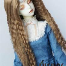 JD118 1/3 SD синтетический, мохеровый, для куклы парики 8-9 дюймов длинные Кукуруза кудрявая волосы bjd
