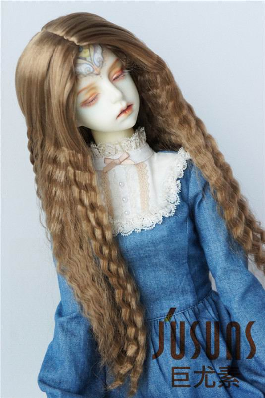 JD118 1/3 SD synthetic mohair doll wigs  8-9inch Long corn curly bjd hair 1 3 1 4 bjd wigs hot sell bjd sd short curly wig for diy dollfie mohair like