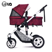 High Landscape Baby Stroller with Car Seat Sleeping Basket Baby Trolley Reversible Push Handle Luxury Baby Pram Brand Stroller