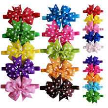 50pcs Cat Dog Bow Ties Solid Dot Pet Bows Collar Small Dog Cat Bowtie Middle Dog Grooming Accessories Pet Supplies 20colours
