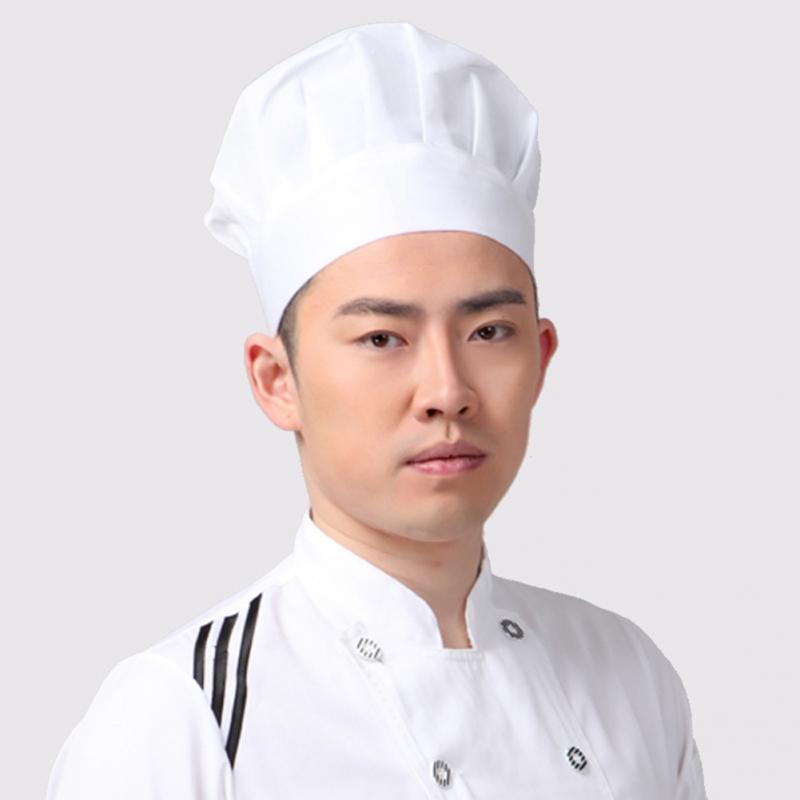 1 Pcs Unisex Partei Küche Kostüm Cap Backen Bbq Cooking Erwachsene Elastic Chef-hut Weiß