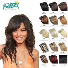 DHL Free Shipping All Color 7A Grade 100% Brazilian Virgin Remy Clips In Human Hair Extensions 8pcs/set Full Head