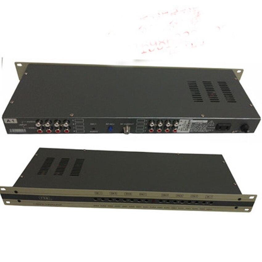 8 Way CATV modulatore Modulatore di Frequenza partita set top box Separato di uscita RF del segnale di alta qualità