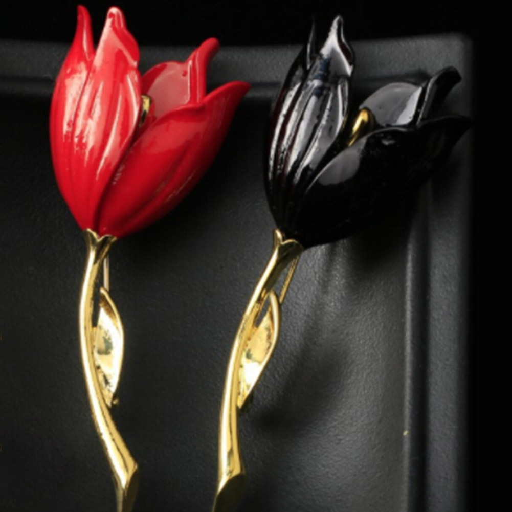 Pretty  Beauty Individual Beautiful Accessories  Brooch Best Tulip Flower Supplies Magic Lovely Novelty