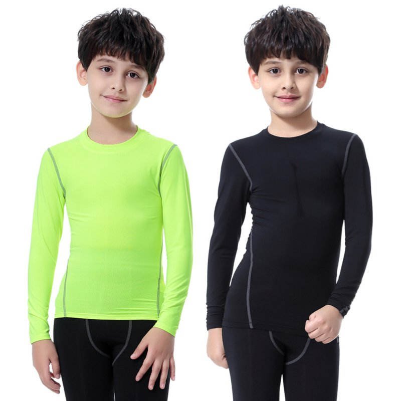 цена на 2018 NEW Children Kids Boy Girl Compression Base Layer Skins Tee Thermal Sports T- Shirt Quick-drying Clothes