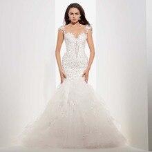 New Arrival Item Designer Sexy Mermaid Lace Bodice Open Back Long Wedding Dress 2016 Bridal Gown Women vestido de noivas