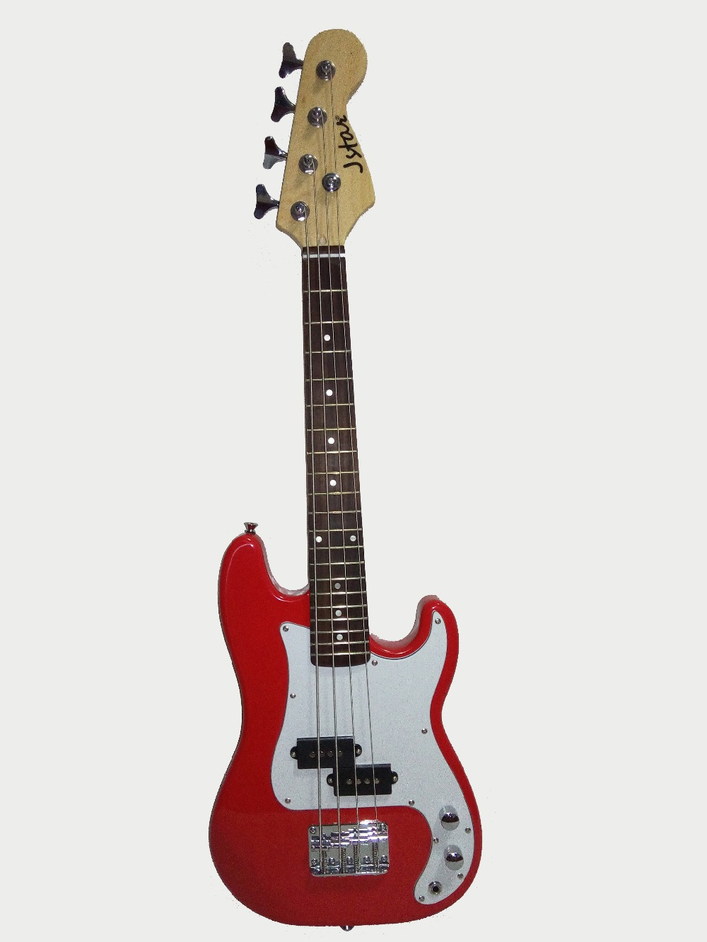 Free Shipping!34'(86cm) Jstar Kids' Electric Bass Guitar Child Electric PB Bass Guitar For Practice & Kids Band (Red,1pce Pack)