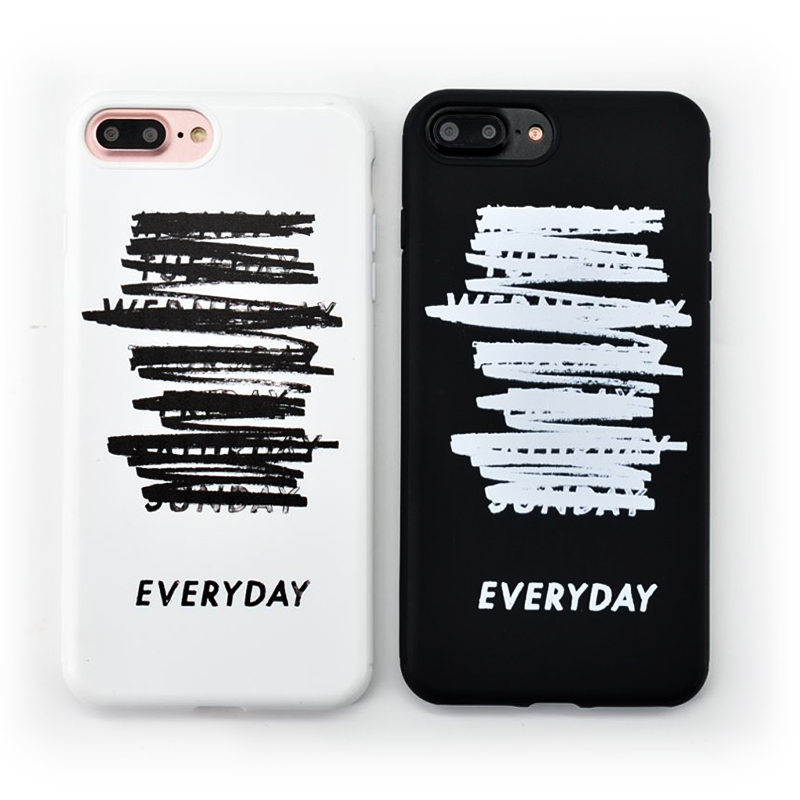 Couple Simple Letter EVERYDAY Stylish Idea Phone Case for