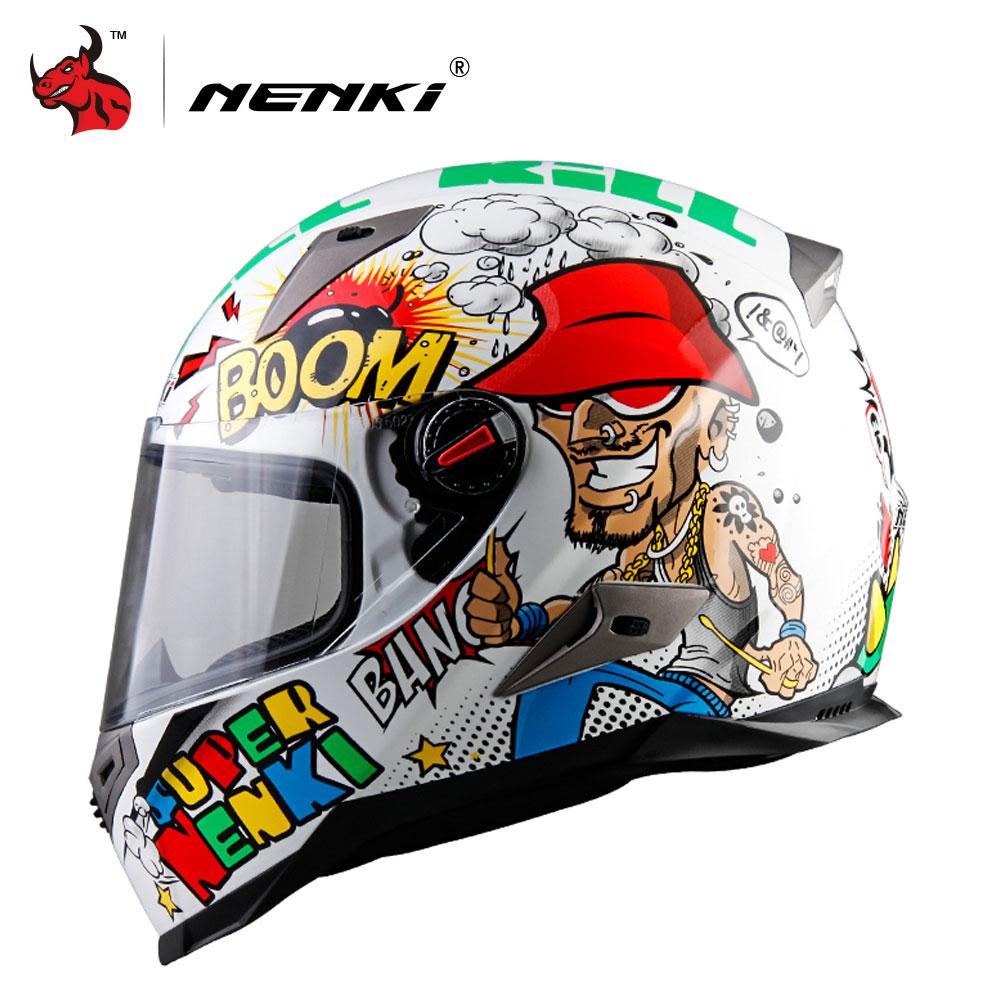 NENKI Motorcycle Helmet Winter Personality Moto Riding Helmet Motorbike Casque ABS Material Motocross Helmet M/L /XL/XXL 1000m motorcycle helmet intercom bt s2 waterproof for wired wireless helmet
