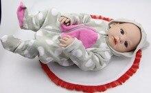 Lifelike 58CM / 23Inch Reborn Babies Girl Lifelike Full Body Silicone Vinyl Newborn Dolls Gift for Newborn Baby Girl