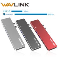 Tipo C T3 40 Gb/s Thunderbolt 3 Adaptador USB HUB SD/Cartão Micro SD leitor usb hub 3.0 4 K HDMI 7 em 1 para MacBook Pro 13