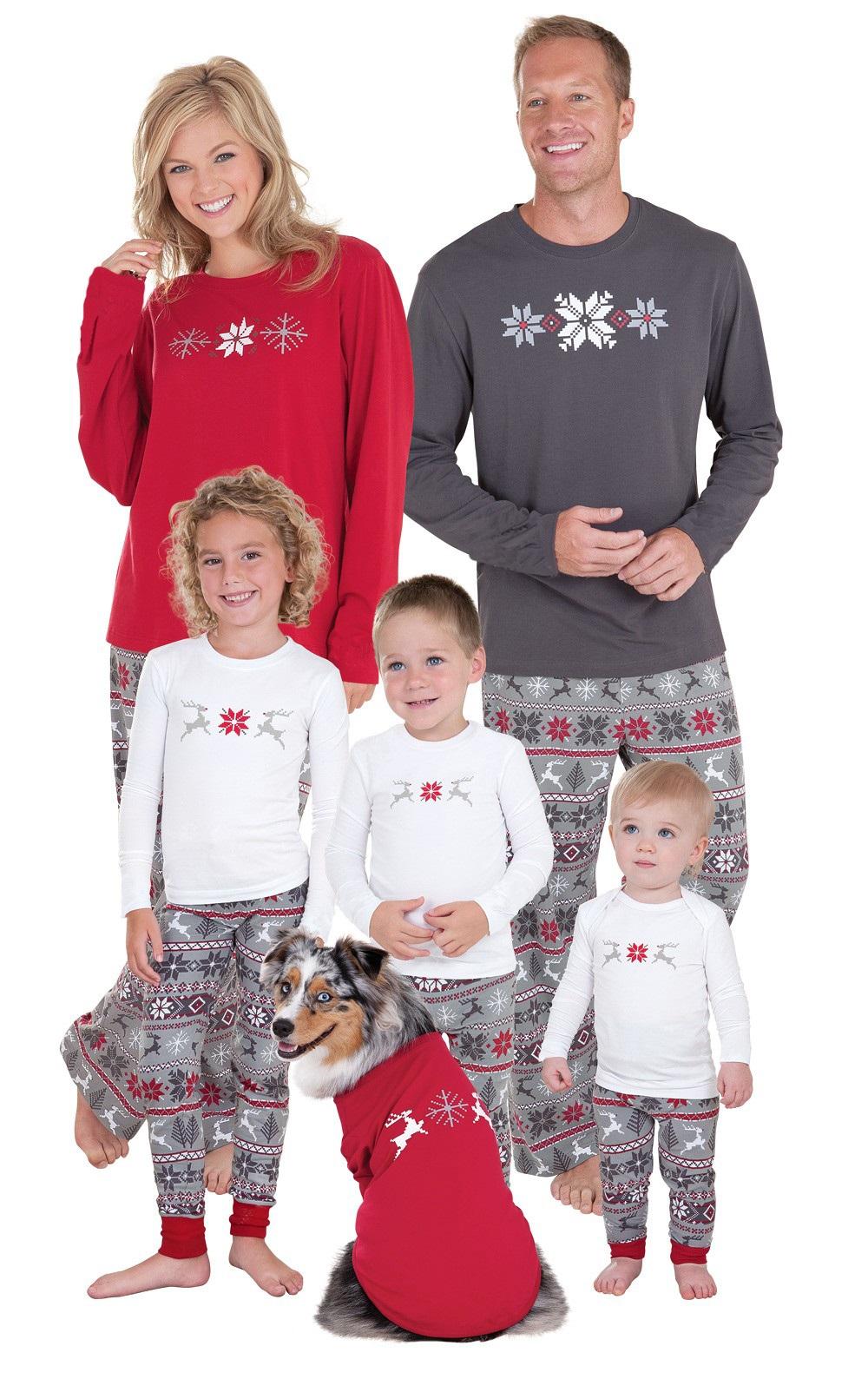 Caldo Natale pjs pigiama set pigiama famiglia famiglia abbinamento ... e243ec4d593