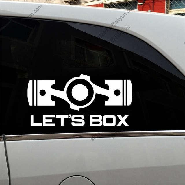 Lets Box Boxer Flat Engine JDM Funny Car Decal Sticker Vinyl Fit - Funny car decal stickers