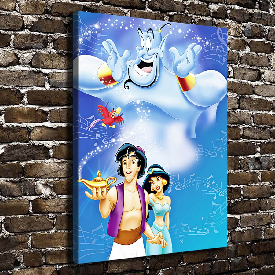 A964 Princess Jasmine Children Cartoon Film, HD Canvas Print Home decoration Living Room bedroom Wall pictures Art painting