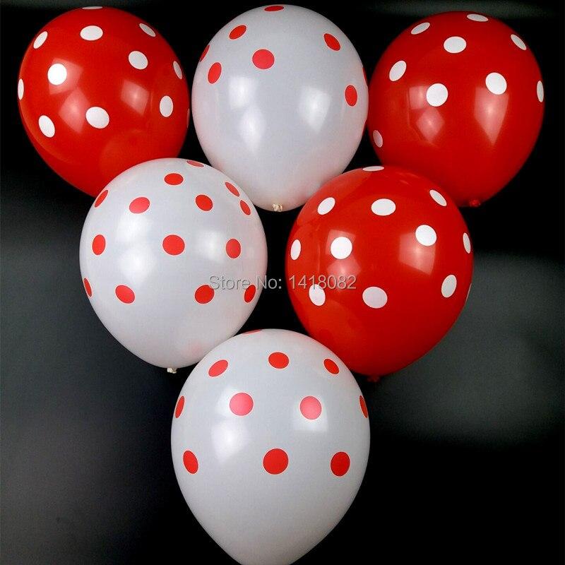 50pc 12 inch Latex Polka Dots Balloons Wedding Birthday Balloons Decoration comb