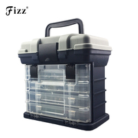 Professional 4 Layers Handheld Fishing Case High Strength ABS Plastic Fishing Accessories Tackle Tool Box 27x17x26cm