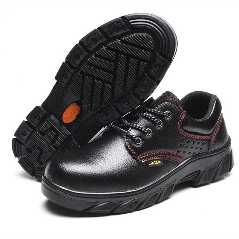 Safety Shoes Cap Steel Toe Safety Shoe Boots For Man Work Shoes Men Waterproof Size 12 Black Footwear Wear-resistant DXZ003 image