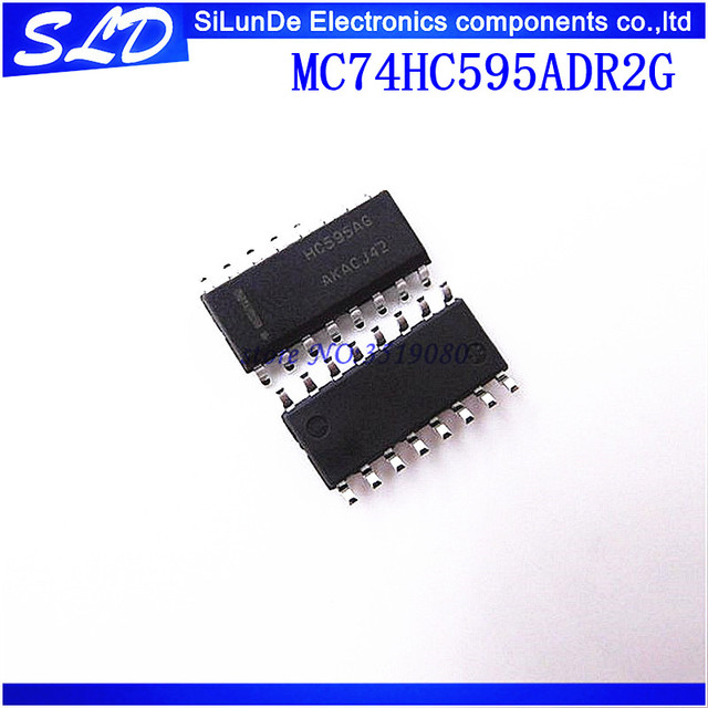 משלוח חינם 50 יח\חבילה MC74HC595ADR2G MC74HC595ADR2 HC595A HC595AG SOP 16 חדש מקורי