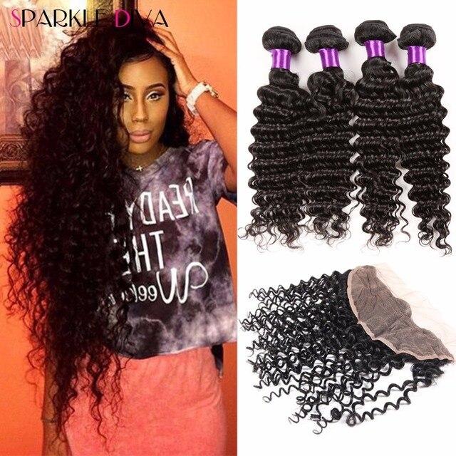 Rosa Hair Brazilian Virgin Hair Kinky Curly With Closure,8a Brazilian Virgin Hair With Closure 4 Bundles With Frontal Closure