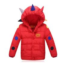 2016 New Winter Children Boys Girls Padded Down Jacket Coat Children's Coat Dinosaur Tyrannosaurus Cheap-infant-clothing Outwear
