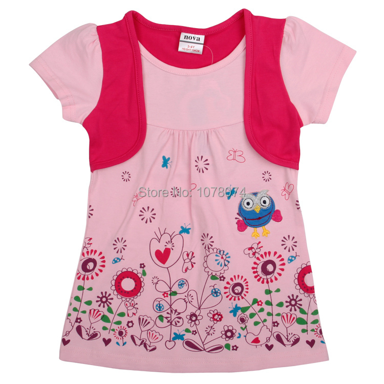 Girls Dresses Nova Kids Clothes Fashion Baby Girls Dresses Summer Printed Flowers Lovely New Design Beautiful Girls Dresses