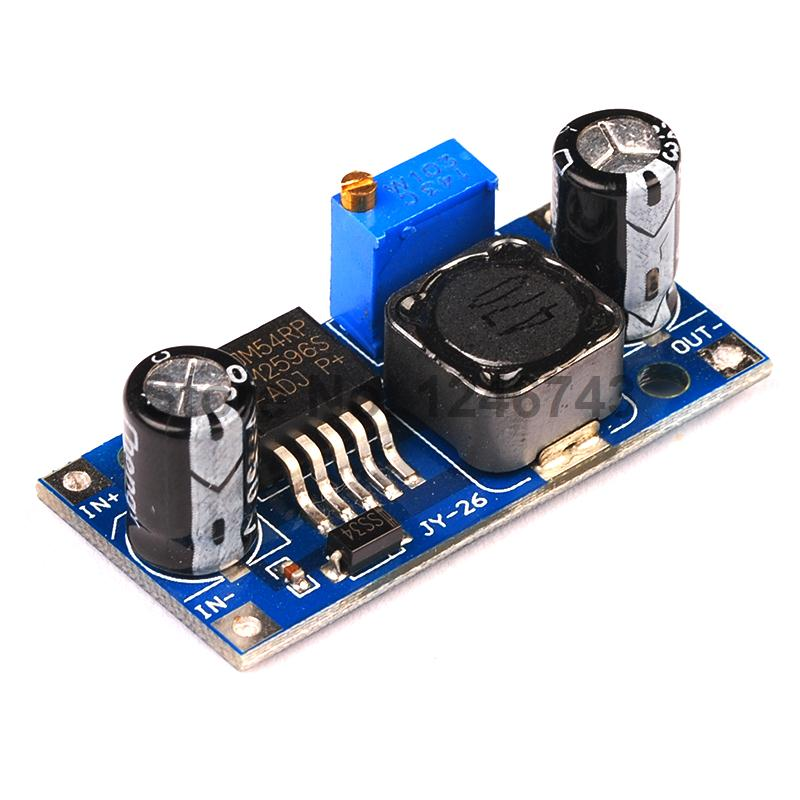 50PCS LM2596 LM2596S DC DC Adjustable Step down Power Supply Module NEW High Quality