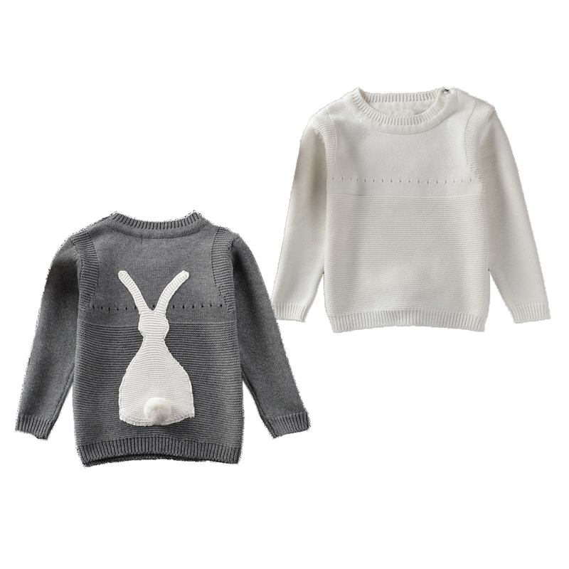 Autumn Baby Boys Girls Sweater Toddler Girls Jumper Knitwear Rabbit Long-Sleeve Pullover for Girls and Boys Childrens Clothing