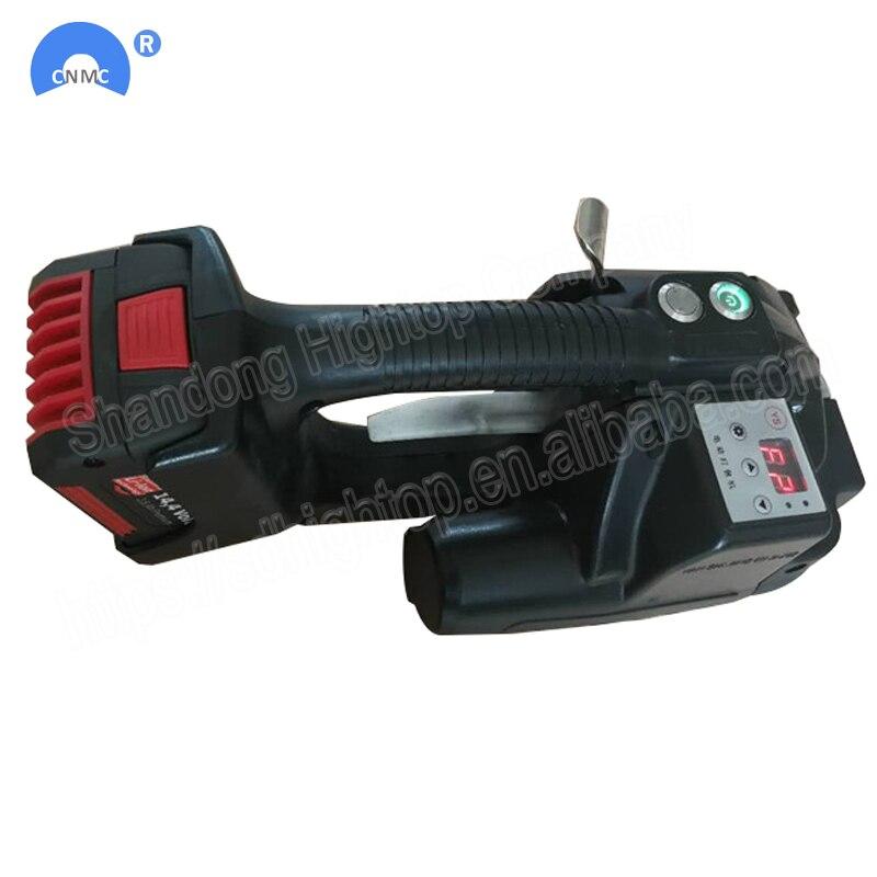 Dois Battery Powered Handheld Máquina de Cintas de PP e PET Cintas Ferramenta Elétrica Ferramenta Elétrica Cintas 13mm-16mm