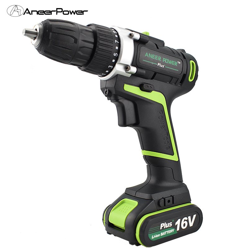 16V Plus Electric Drill Cordless Screwdriver Power Tool Screwdriver Battery Tools Electric Rechargeable Machine Rotary Drilling free shipping brand proskit upt 32007d frequency modulated electric screwdriver 2 electric screwdriver bit 900 1300rpm tools