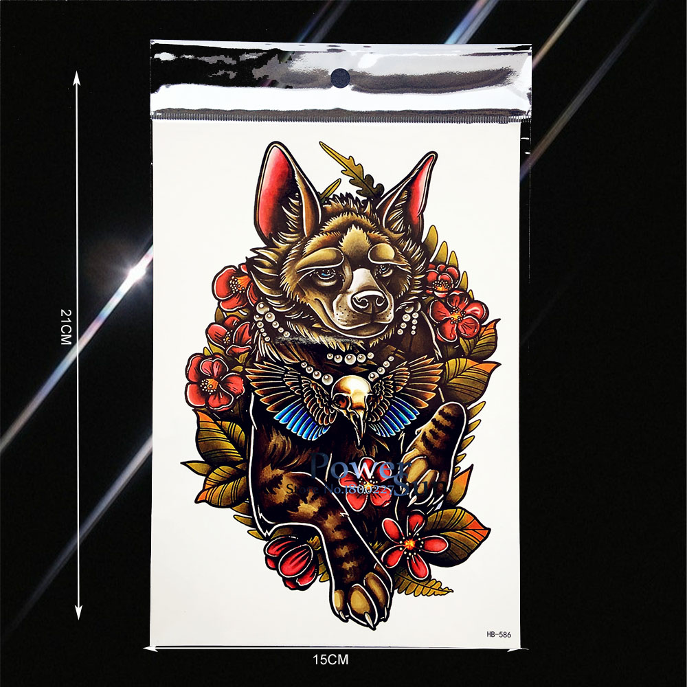 Cool Punk Dog Designs Waterproof Transfer Tattoo Fake Flash Men Beach Body Art Arm Sleeves Tattoo Summer Style PHB586 Tatoo Legs