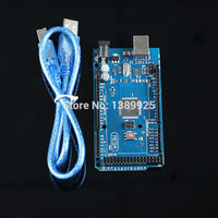 Free Shipping 10pcs Lot Mega 2560 R3 Mega2560 REV3 Board With Logo USB Cable Compatible With