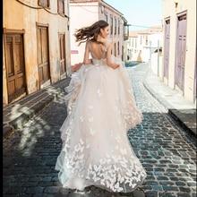 Smileven Boho Свадебное платье 2019 3D Аппликации Свадебные платья Vestido De Novia свадебное платье с v образным вырезом и бабочкой