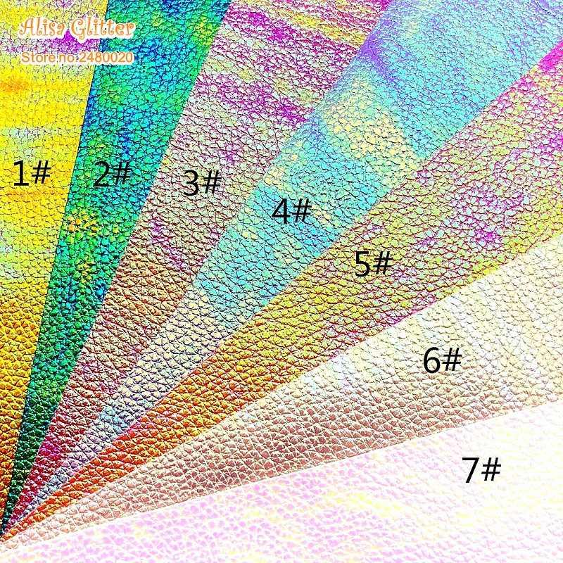 1 cái A4 KÍCH THƯỚC 21X29 cm Alisa Long Lanh Cuero Sintetico Da Tổng Hợp Pearlized Vải Hạt Óng Ánh Da cho TỰ LÀM E07