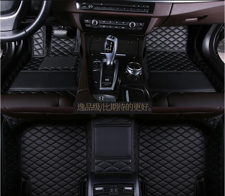 Car carpets for Fiat 500 Bravo Leather Car Floor Auto Mats Waterproof Mat Non Toxic and inodorous Interior Accessories