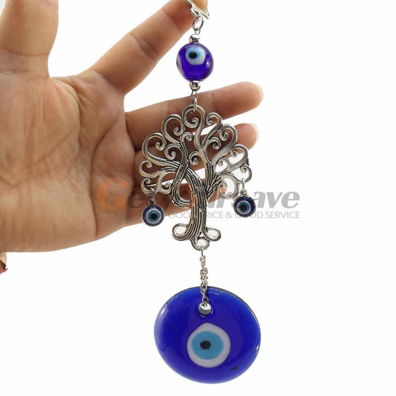 Turquie Bleu Yeux Souhaitant Arbre Ornements Vie Arbre Talisman Home Decor Musulman Mal Maison de Ville Coffre-Fort Voiture Ornement de Démon eye