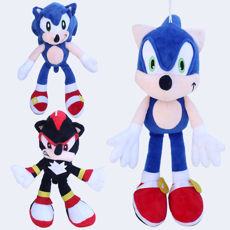 3pcs/lot 30cm Sonic Black Shadow the Hedgehog & Sonic The Hedgehog Plush Toys Doll Soft Stuffed Toys for Kids Children Gifts brand new crackle the dragon plush from sofia the first show 12 baby toys for children stuffed